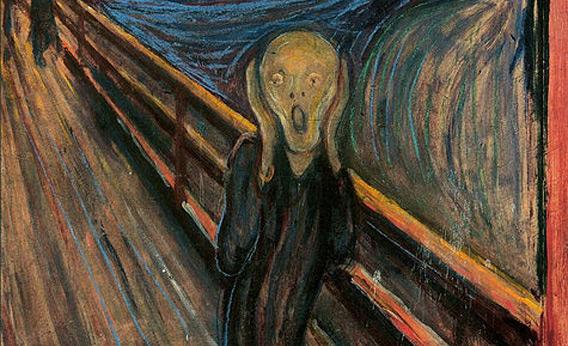 The Scream, by Edvard Munch. How I feel when there is no nap in our day.