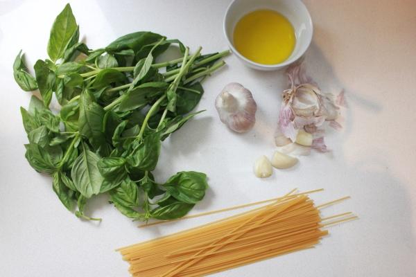 Fresh pesto pasta.